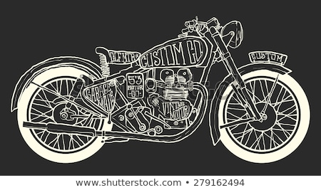 Motorcycle vintage graphics Stock photo © frescomovie