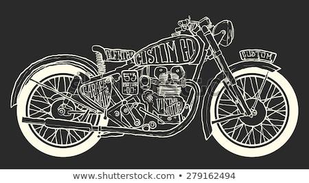 bicikli · grafika · szett · bicikli · terv · hegy - stock fotó © frescomovie