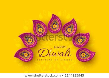 beautiful diwali card design for festival of light Stock photo © SArts
