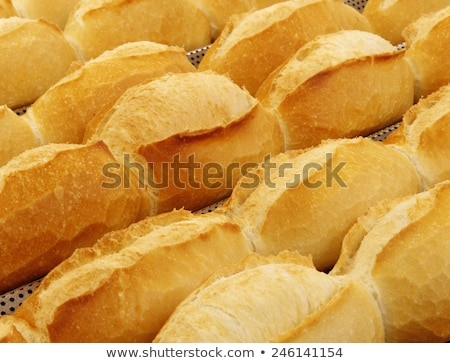 Kicsi francia bagettek három fehér kenyér Stock fotó © Digifoodstock