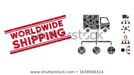 Lorry Distribution Scheme Flat Vector Icon Stock photo © ahasoft
