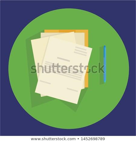 Data Concept on Folder Register. Stock photo © tashatuvango