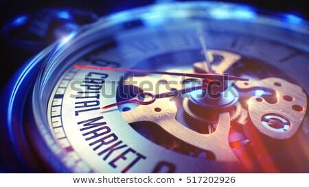 ストックフォト: 投資 · 研究 · 時計 · 顔 · 3次元の図 · 懐中時計