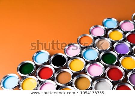 színes · festék · különböző · színes · absztrakt · keret - stock fotó © creisinger