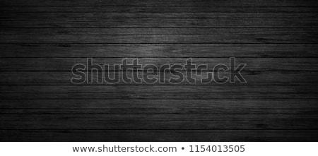 Stok fotoğraf: Black Wood Texture Background Old Panels