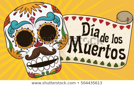 Dia de los muertos translation from Spanish. Day of the Dead. Lettering text for greeting card Stock photo © orensila