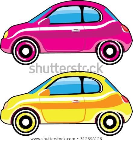 Tiny Tiny Small Car mini vehicle Vector stylized clip-art Stock photo © vectorworks51