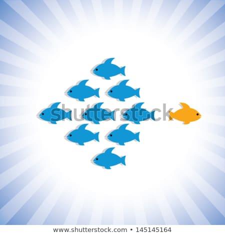 Fisch · logo · Vorlage · Symbol · Wasser · abstrakten - stock foto © krisdog