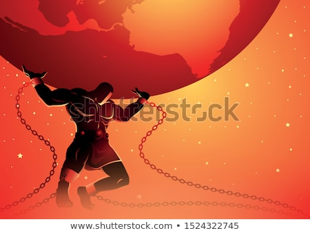 Atlas Greek Mythology Illustration Stock photo © Krisdog