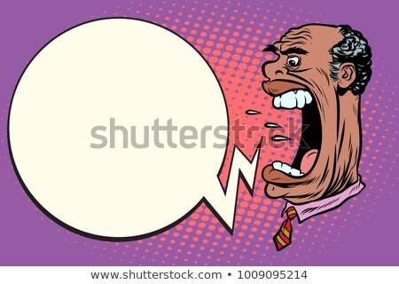 reus · zakenman · concurrent · pop · art · retro-stijl · groot - stockfoto © studiostoks