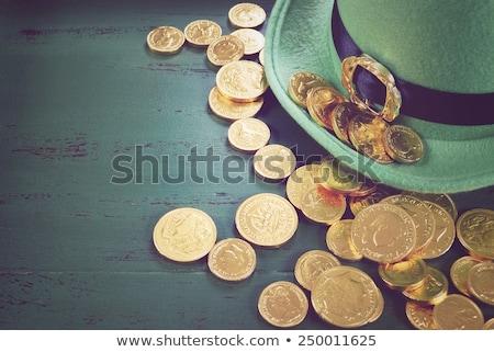 зеленый · банка · полный · Золотые · монеты · изолированный · белый - Сток-фото © krisdog