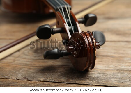 старые скрипки лук деревянный стол музыку Сток-фото © nessokv