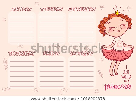 Stockfoto: School · dienstregeling · sjabloon · kinderen · vector · cartoon