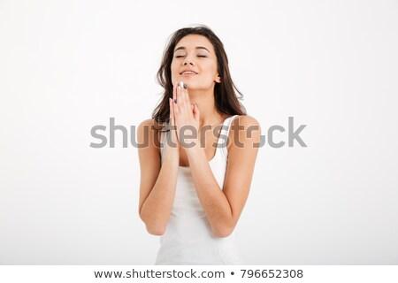 привлекательная · девушка · молятся · портрет · азиатских · деловой · женщины - Сток-фото © deandrobot