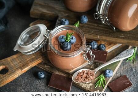 Berry mousse jar Stock photo © YuliyaGontar