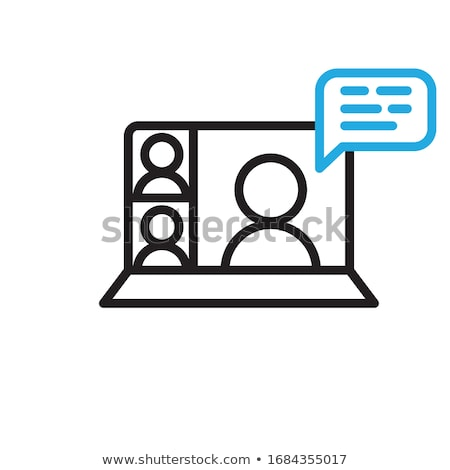 Icon for online web chat at laptop Stock photo © LoopAll