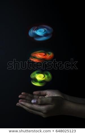 Drei weiß Spielzeug Unterhaltung Bewegung Hintergrund Stock foto © dolgachov