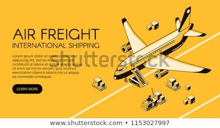 radar · repülőgép · repülőgép · vektor · világ · poszter - stock fotó © studioworkstock