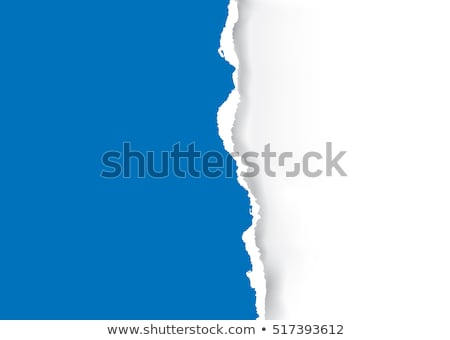 Vector ripped blue paper template Stock photo © orson