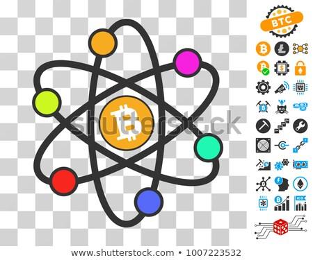 Neutron - Blockchain Cryptocurrency Pictogram. Stock photo © tashatuvango