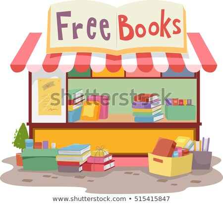 Free Books Roadside Stand Stock photo © lenm