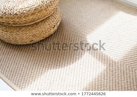Szőnyeg közelkép boglya színes sekély textúra Stock fotó © ldambies