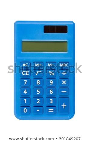 синий калькулятор изолированный белый Финансы Сток-фото © kravcs