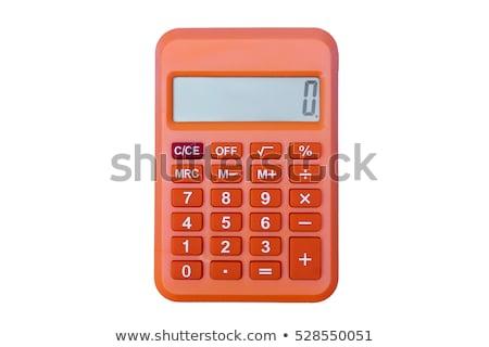 Orange calculator isolated on white stock photo © kravcs