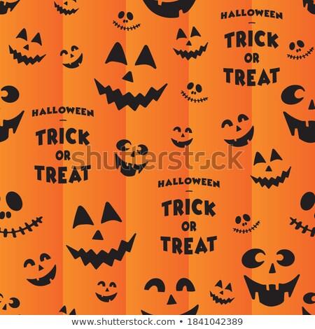 Rajz halloween denevér sziluettek végtelen minta izolált Stock fotó © Valeo5