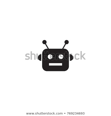 Robot head isolated. Cyborg face. Vector illustration Stock photo © MaryValery