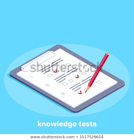 Icon of successful school test result. test icon Stock photo © MarySan