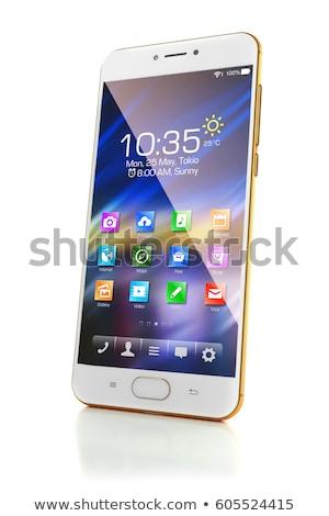 4g telefon fehér izolált 3d illusztráció internet Stock fotó © ISerg