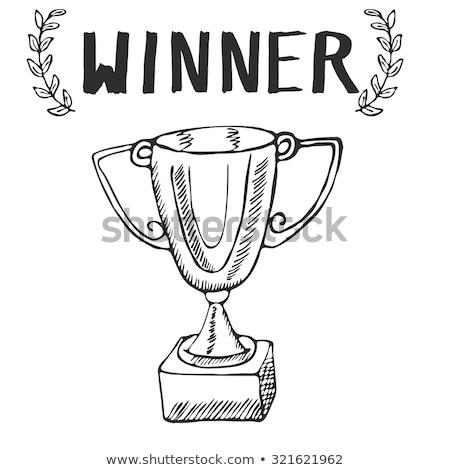 バドミントン · 純 · 手描き · いたずら書き · アイコン - ストックフォト © rastudio