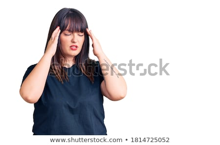 Angry overweight woman in fashionable clothes Stock photo © Traimak