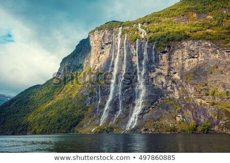 Geirangerfjord fjord and the Seven Sisters waterfall, Norway Stock photo © Kotenko
