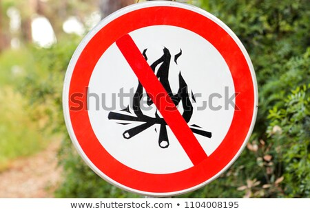 do not make camp fire sign icon stock photo © romvo