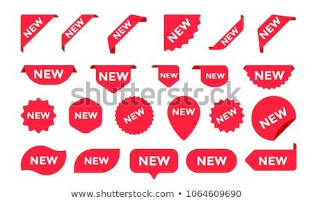 реклама новых Этикетки иллюстрация набор продукт Сток-фото © olegtoka