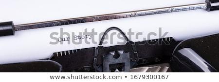 Történet klasszikus írógép iroda könyv munka Stock fotó © sqback
