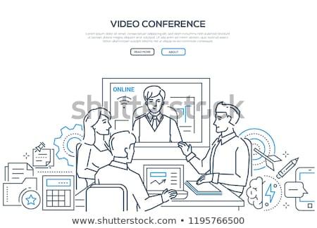 negócio · conferência · moderno · linha · projeto · estilo - foto stock © decorwithme