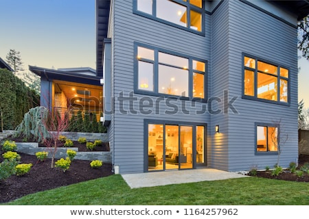Beautiful back yard exterior with alpine slide Stock photo © iriana88w