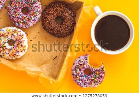 lezzetli · fincan · kahve · sarı · yüzey - stok fotoğraf © artsvitlyna