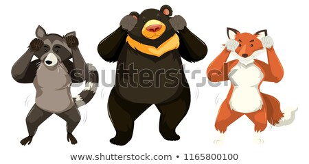 A raccoon with shmoney dance Stock photo © bluering