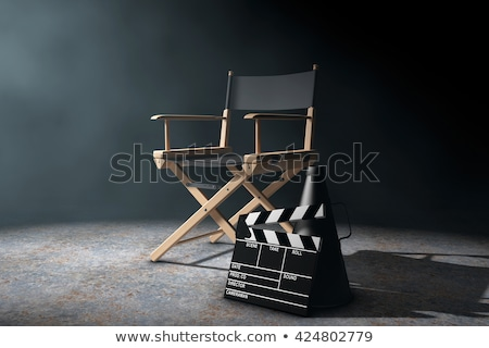 filme · diretor · jovem · pronto · próximo - foto stock © JamiRae
