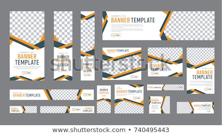set of vertical banners web design element stock photo © lissantee