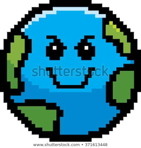 Evil 8-Bit Cartoon Earth Stock photo © cthoman