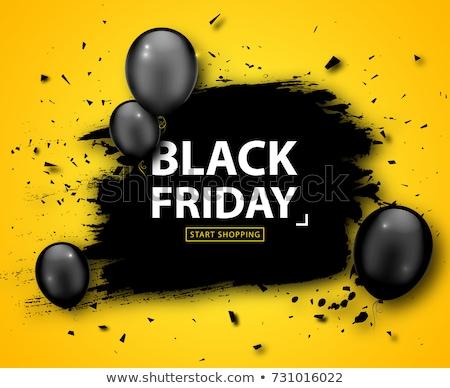 Abstrato black friday amarelo bandeira projeto teia Foto stock © SArts