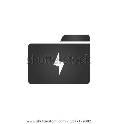 Dossier icône foudre style isolé Photo stock © kyryloff
