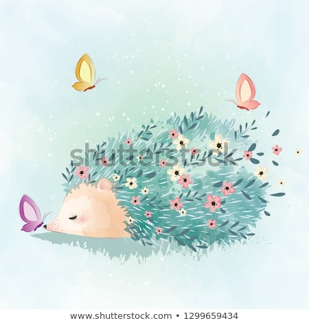 Cartoon Porcupine Love Stock photo © cthoman