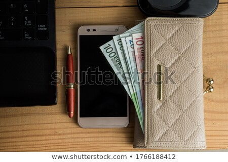 Euros with calculator and account statements Stock photo © Zerbor