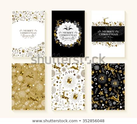 Stockfoto: Christmas · goud · laag · ornament · vrolijk